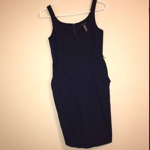 Laundry by Shelli Segal casual dark blue dress.